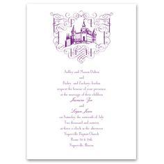 fairy tale romance wedding invitation | romantic wedding invites at Ann's Bridal Bargains