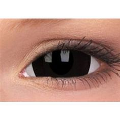 ColourVue Black Titan Mini Sclera 17mm Crazy Colour Contact Lenses (1 Year Wear)
