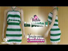 Vestido em ponto V (PP - P - M - G - GG)   BYA FERREIRA