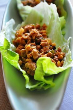 Gluten Free, Dairy Free Asian Lettuce Wraps