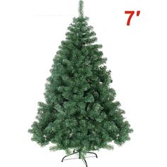 7' GREEN 210CM NEW Classic Pine Christmas Tree Artificial Realistic Natural Branches-Unlit *** See this awesome image  : Garden Christmas Decorations