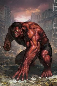 Red Hulk, whoes story is not all that great, but excellent artwork