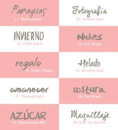 recursos molongos: 40 tipografías con trazos de pincel | 40 free brush fonts