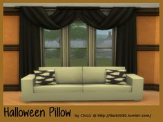 Halloween Pillow at ChiLLis Sims • Sims 4 Updates