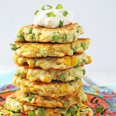 Pea & Sweetcorn Fritters Recipe
