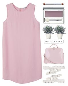 """""""~Pink at Heart~"""" by amethyst0818 ❤ liked on Polyvore featuring MANGO, Radley, shu uemura and Clinique"""
