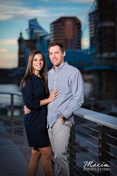 Smale Riverfront Park Cincinnati Engagement by Maxim Photo Studio https://maximphotostudio.com