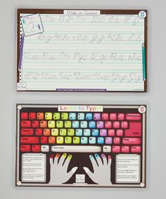 Classic Skills! Cursive Writing & Learn to Type Activity Place Mat Set by Tot Talk #zulily #zulilyfinds