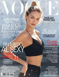 Candice Swanepoel Keeps it Simple for Vogue Spains April 2013 Cover