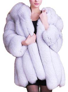 Women's Winter Thick Outerwear Warm Long Fox #Faux #Fur #Coat. #FauxFurCoat #WomensCoat #WinterFashion