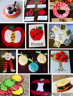 A is for Apple...projects, snacks, and crafts!