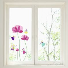 Little Fairies Window Decal Sticker Fensteraufkleber bei AllPosters. Window Stickers, Window Decals, Wall Decals, Window Clings, Wall Clings, Decoration, Girl Room, Diy For Kids, Custom Framing