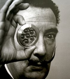 SALVADOR DALI....1944....MONDAY DALI...PHOTO BY PHILIPPE HALSMAN....BING IMAGES.....