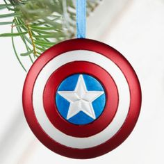 DisneyStore Captain America Shield Sketchbook Ornament - Personalizable Found on my new favorite app Dote Shopping Disney Christmas Decorations, Disney Ornaments, Christmas Tree Themes, Christmas Tree Ornaments, Christmas Holidays, Happy Holidays, Captain America Shield, Disney Home, Disney Merchandise