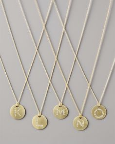 Roberto Coin / Letter Medallion Necklaces