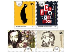 Correo Argentino Sellos 2014 Stamps Argentina Philately 100th Anniversary of birth of Julio Cortazar