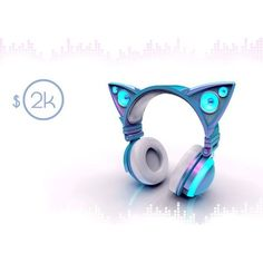 Cat ear-shaped headphones glow in bright LED lights. Mind control with a little bit of bass. Cat Headphones, Light Up Headphones, Mode Geek, Accessoires Iphone, Cool Stuff, Stuff To Buy, Cool Gadgets, Tech Gadgets, Inventions