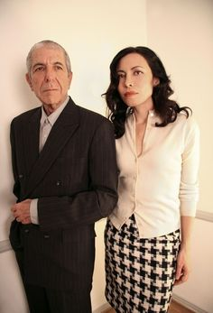 Photo of Leonard Cohen and Anjani by Lorca Cohen, 2007.