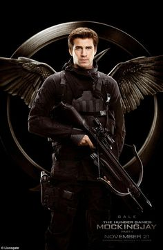 Liam Hemsworth reprises his role as Gale, in a movie poster for The Hunger Games Mockingjay Part 1 #dailymail