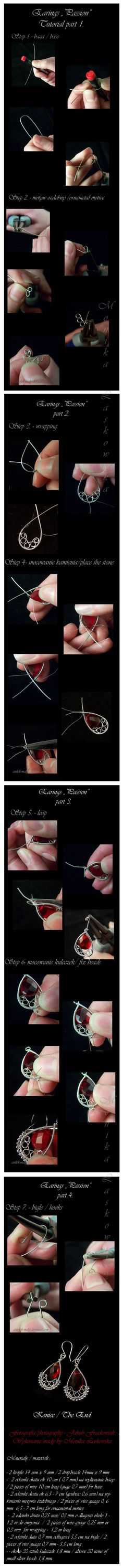 Wire wrapping free tutorial by *Aniolek-maly on deviantART