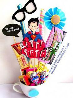 Diy And Crafts, Arts And Crafts, Brother Birthday, Father's Day Diy, Candy Bouquet, Ideas Para Fiestas, Fathers Day Crafts, Bathroom Kids, Candy Gifts