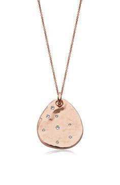 Monica Vinader 'Siren' Semiprecious Stone Charm Pendant Necklace