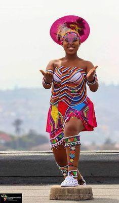 Zulu Traditional Wedding Dresses, Zulu Traditional Attire, South African Traditional Dresses, African Traditional Wedding, African Inspired Fashion, Africa Fashion, African Attire, African Dress, Wedding Dresses South Africa
