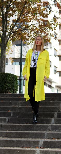 Trench coats suit all ages. Choose a pant to suit your legs but keep it slim& simple. MORE matches are in www.shein.com