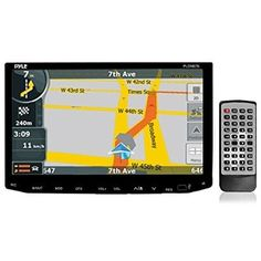Pyle PLDNB78i Headunit Receiver 7-Inch Stereo Radio, GPS Navigation, Bluetooth, Touch Screen, Double DIN - For Sale