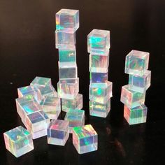 Opal cubes Natural Crystals, Stones And Crystals, Crystals And Gemstones, Cool Rocks, Beautiful Rocks, Healing Stones, Crystal Healing, Crystal Collection, Mineral Stone