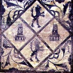 Ceiling tile from Manises (Valencia), with the arms of Castile and Leon from the 15th century
