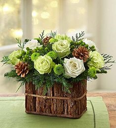 Shop Christmas flowers & gifts for delivery to celebrate the season! Find beautiful Christmas floral arrangements and holiday flowers. Winter Flower Arrangements, Christmas Arrangements, Beautiful Flower Arrangements, Christmas Centerpieces, Floral Arrangements, Christmas Decorations, 800 Flowers, Christmas Flowers, Winter Flowers
