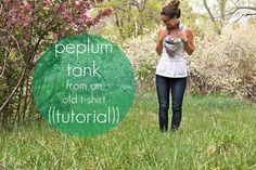 oh, sweet joy!: ((handmade monday)) peplum tank tutorial