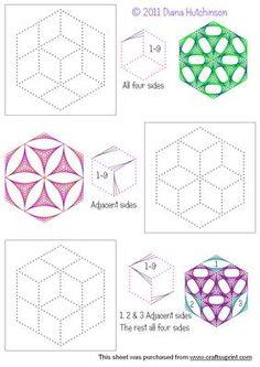Mandala Hexagons on Craftsuprint designed by Diana Hutchinson - Three mandalas…