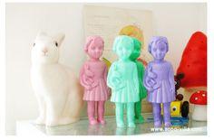 http://www.sopo-villa.com/  Rabbit lamp, Clonette dolls, toadstool lamps