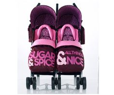 girls twin stroller