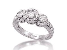 Three Stone Diamond Ring 1.00 Carat - $825.00