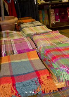 Are you looking for something to brighten up your home ? We have gorgeous 100% lambswool throws that will certainly add colour to your home !! They are available in store and also at www.blarney.com