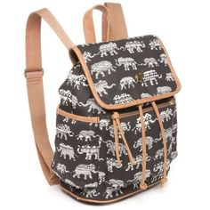 333ec084d9 Red Camel Blackwhite Elephant Print Backpack ( 25) ❤ liked on Polyvore  featuring bags