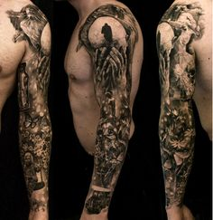 Carl Löfqvist, Sweden. #Tattoo #sleeve