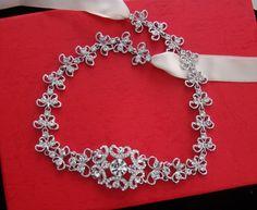 Bridal Headband Wedding Hair Accessories Crystal by JewelryBox88, $55.00