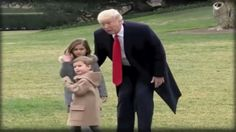 Trump teaches his grandchildren how respect for our military is shown!  ...so refreshing to see, once again, after eight years of disregard.