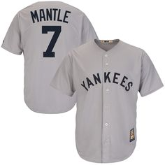 Mickey Mantle New York Yankees Majestic Cool Base Cooperstown Collection  Player Jersey - Gray 44144e76f