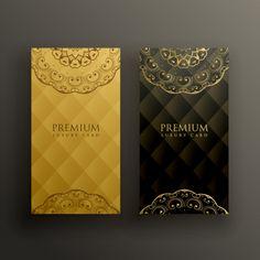 Stylish mandala premium golden card design Free Vector | Free Vector #Freepik #vector #freebackground #freebanner #freewedding #freebusiness