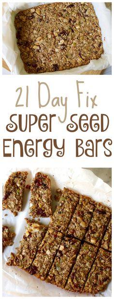 21 Day Fix Super Seed Energy Bars #21dayfix #21dayfixsnacks #21dayfixgranolabars…