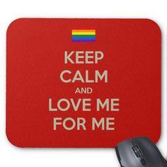 keep calm love me mouse pad