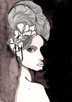 Fashion illustration. Prints available at www.helloartlover.com