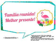 Uau! Veja o que temos para Plaquinhas para Festa Flamingo 9 30th Birthday Parties, 17th Birthday, Captain America Party, Tropical Pool, Flamingo Party, O Love, Ideas Para Fiestas, Sweet Sixteen, Slogan
