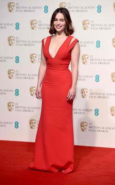 Emilia Clarke Wearing Victoria Beckham - 2016 EE British Academy Film Awards - http://www.becauseiamfabulous.com/2016/02/14/emilia-clarke-wearing-victoria-beckham-2016-ee-british-academy-film-awards/