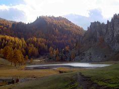 An autumn picture of the Black Lake (largo nero)